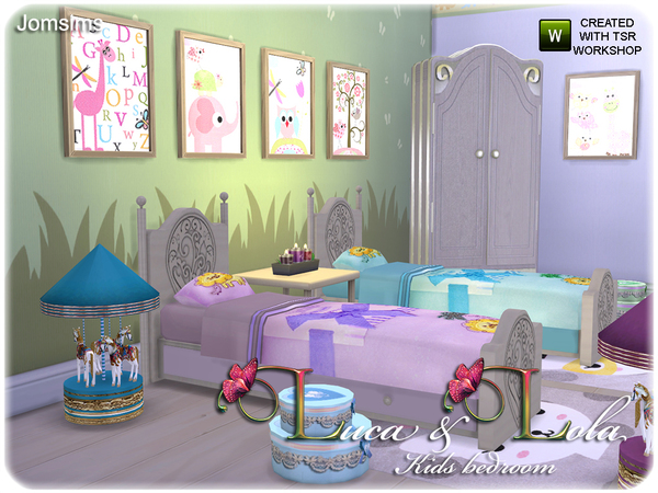 Sims 4 Luca & Lola Kids bedroom by JomSims at TSR