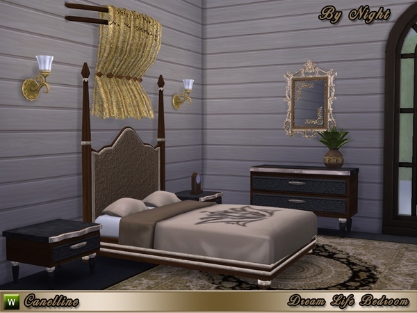 Sims 4 Dream Life Bedroom by Canelline at TSR