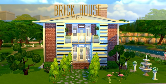 Brick house at Lulufrosty frog image 3102 Sims 4 Updates