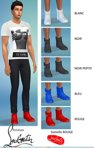 Sims 4 Boots for males at Splay