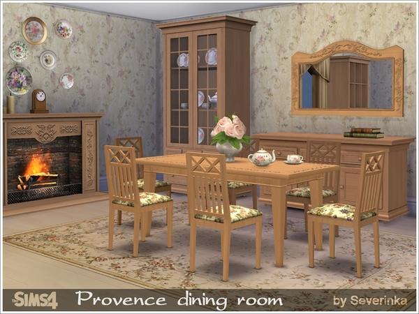 Sims 4 Provence dining room by Severinka at TSR