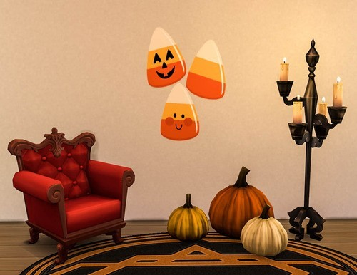 Sims 4 Cute Halloween Wallpaper Decals at Ohmyglobsims