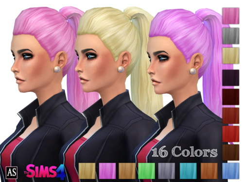 High Fashion Thick Ponytail at Alexandra's Simblr image 32131 Sims 4 Updates