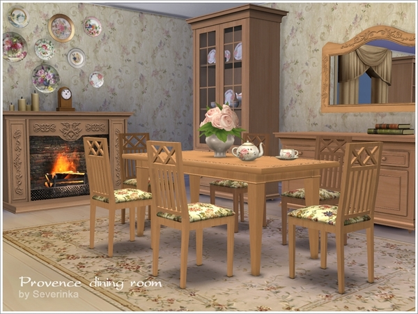 Provence dining room by Severinka at TSR image 3228 Sims 4 Updates