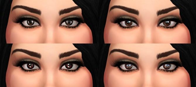 Sims 4 Lana Brown Eyes Set by ZoraVenka at TSR