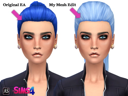 High Fashion Thick Ponytail at Alexandra's Simblr image 33111 Sims 4 Updates