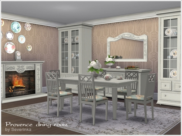 Provence dining room by severinka at tsr sims 4 updates for Dining room ideas sims 4