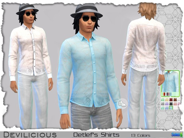 Sims 4 Detlefs Shirts, 13 In 1 by Devilicious at TSR