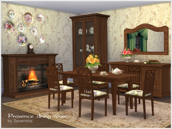Provence dining room by Severinka at TSR image 3424 Sims 4 Updates