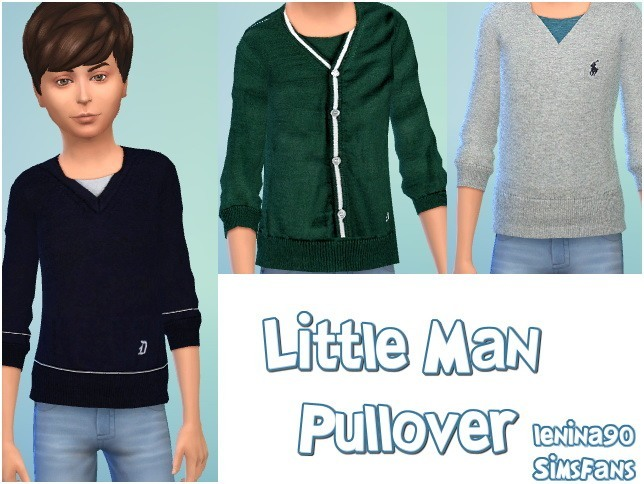Sims 4 Little Man Pullover by lenina 90 at Sims Fans