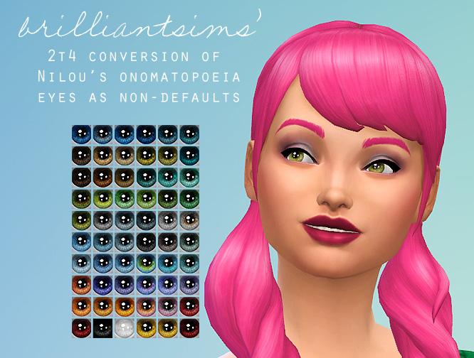 Sims 4 Nnnilous Onomatopoeia eyes at Brilliant Sims