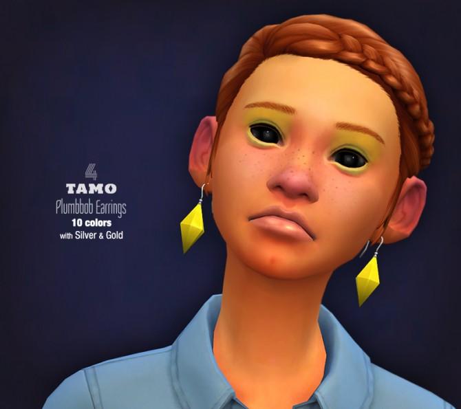 Plumbbob Earrings At Tamo 187 Sims 4 Updates