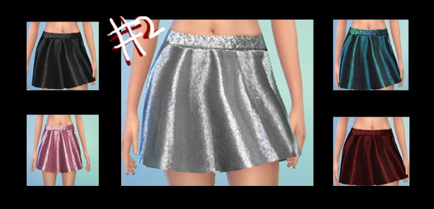 Glittery skirt and bra, cardigan and stockings at Simstemptation image 3611 Sims 4 Updates