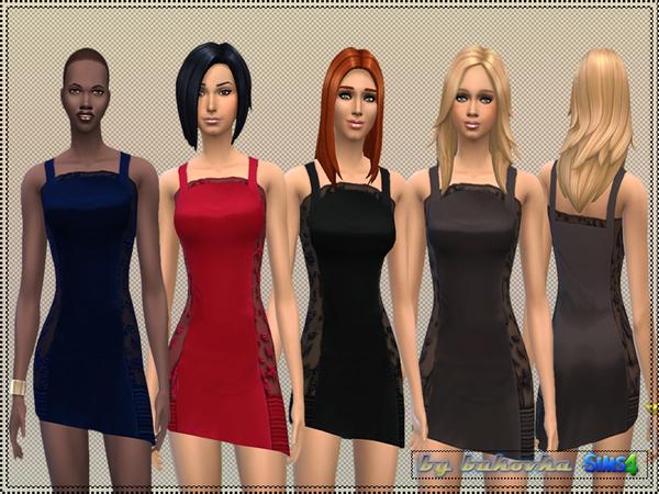 Sims 4 Apron Dress by bukovka at TSR