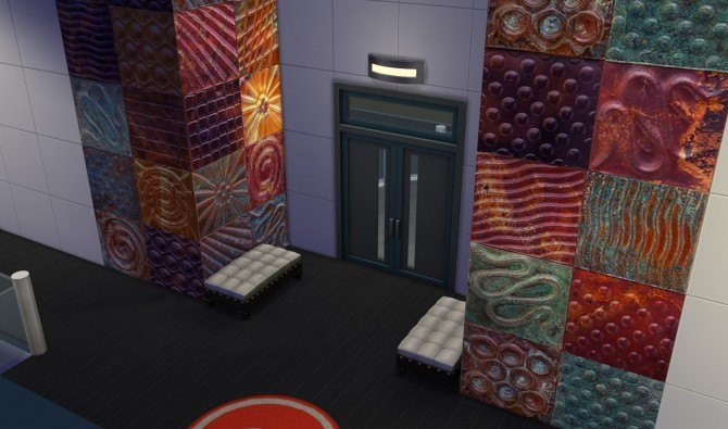 Embossed Metal Art Wall Tile Set by WooTi at Mod The Sims image 3641 Sims 4 Updates
