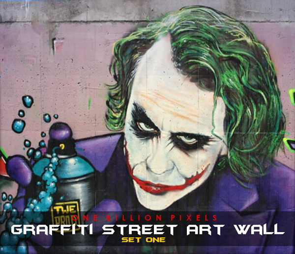 Sims 4 Graffiti Street Art Wall Set 1 at One Billion Pixels