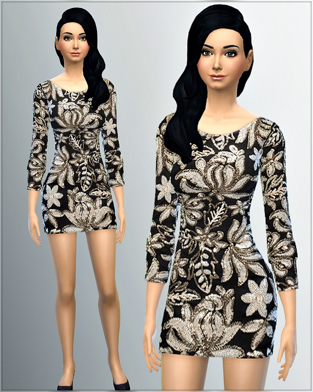 Sims 4 Dress 5 I by Irida at Irida Sims4