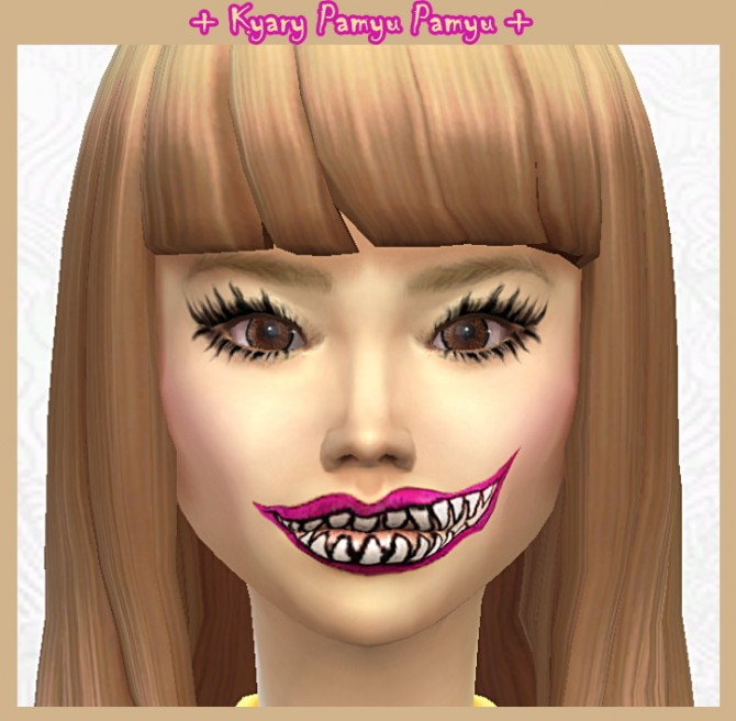 Lenses, Japanese Eyebrows, Moshi Lipstick + Eyelashes at DecayClown's Sims image 3713 Sims 4 Updates
