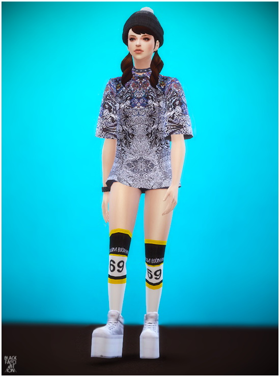 S4 Female Big Shirts At Black Le 187 Sims 4 Updates