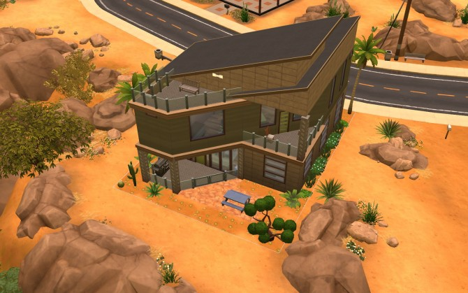 Sims 4 Modern Angles House No CC by sjr721 at Mod The Sims