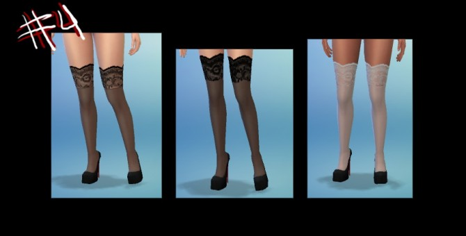 Glittery skirt and bra, cardigan and stockings at Simstemptation image 3810 Sims 4 Updates