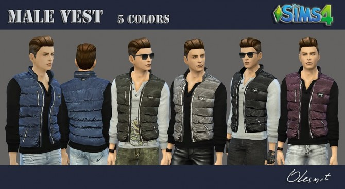 Male vest by Olesmit at OleSims image 390 Sims 4 Updates