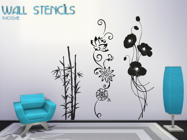 Sims 4 Wall Stencils by Paogae at TSR