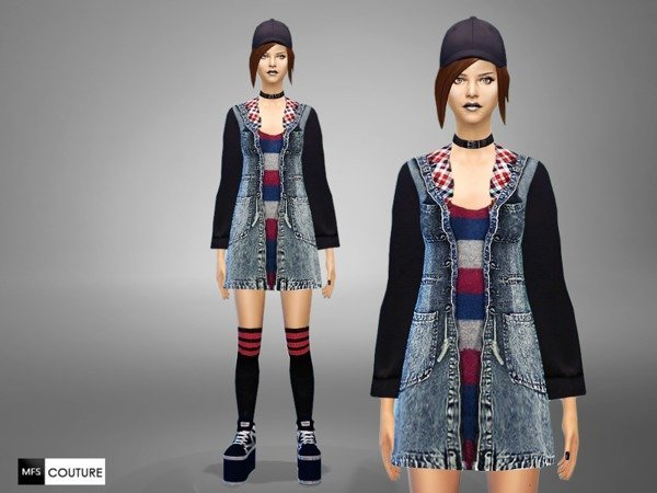 Sims 4 Sporty Jeans Outfit by MissFortune at TSR