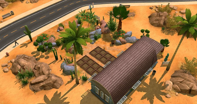 Sims 4 Pomme Rouge caravan by Angerouge at Studio Sims Creation