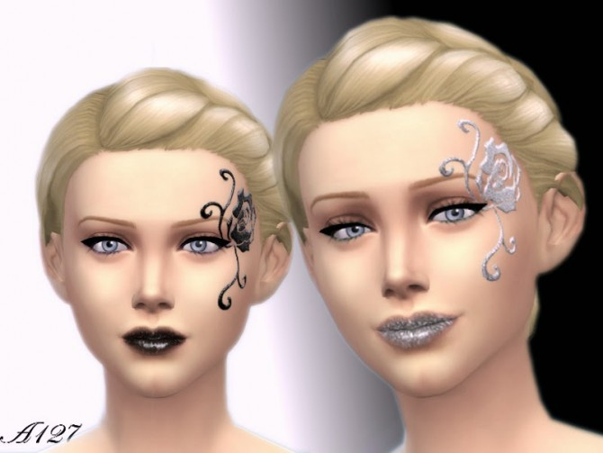 Night Dream face make up by Altea127 image 402 Sims 4 Updates