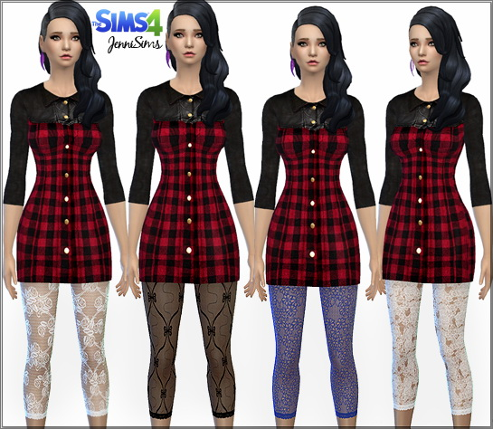 Sims 4 Lace leggings at Jenni Sims