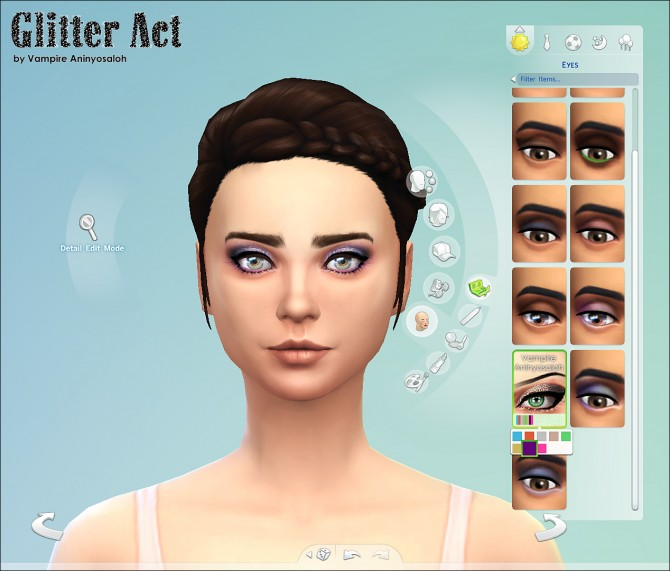 Sims 4 Glitter Act Eyeshadow 8 colors by Vampire aninyosaloh at Mod The Sims