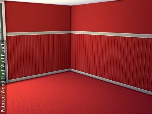 Half wall paneling