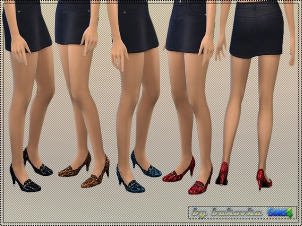 Sims 4 Textured Leather shoes by bukovka at TSR