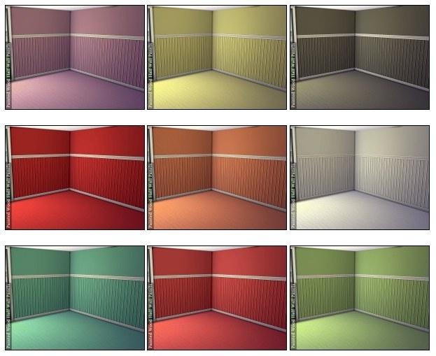 Painted Wood Half Wall Panels At Dragonk Sims Sims 4 Updates
