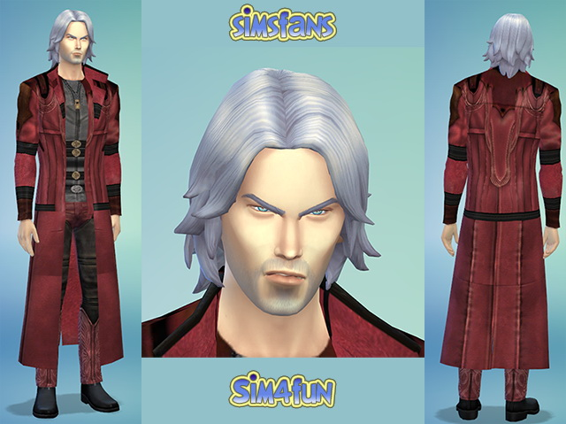 Sims Fans – Sim Models, Males : Dante from Devil May Cry by Sim4fun