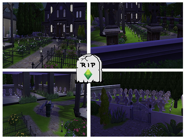 Sims 4 Cemetery by M13 at Sims Fans