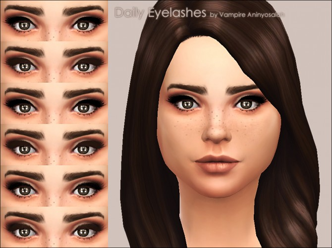 Daily Eyelashes 3 styles / 2 colors by Vampire aninyosaloh at Mod The Sims image 4216 Sims 4 Updates