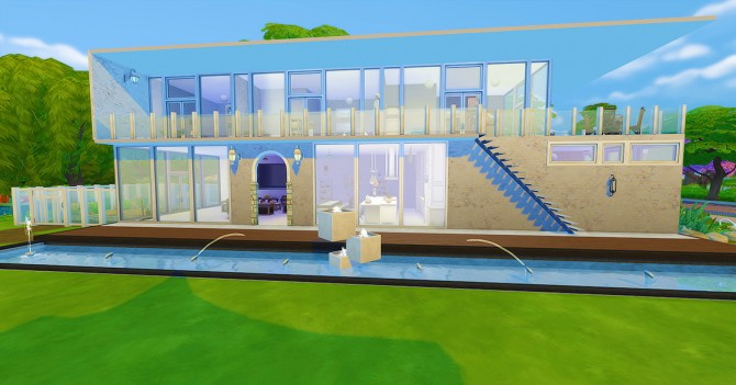 Sims 4 Modern Chic house at Seventhecho
