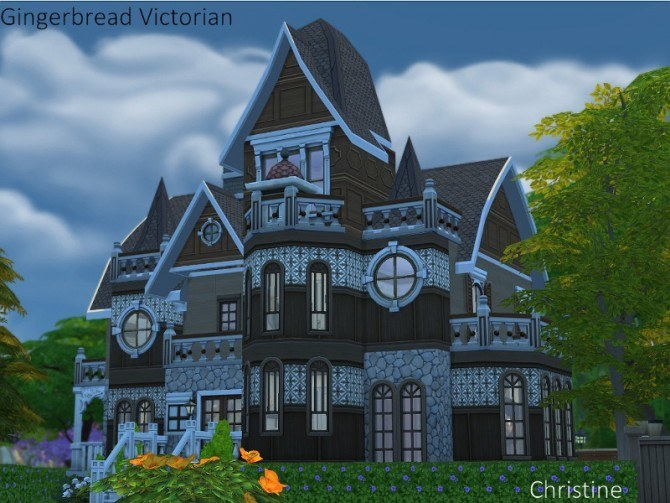 Gingerbread Victorian House By Christine At Cc4sims 187 Sims