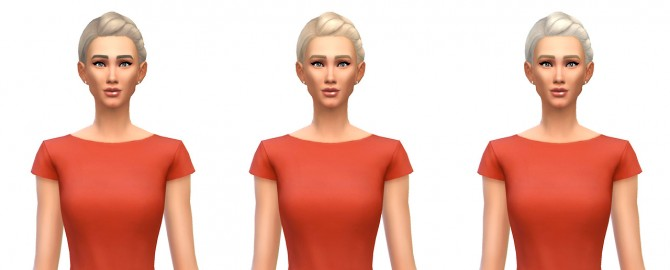 Sims 4 French braided bun 12 recolors at Busted Pixels