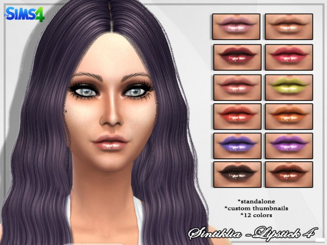 Glossy lipstick 4 at Sintiklia Sims image 440 Sims 4 Updates