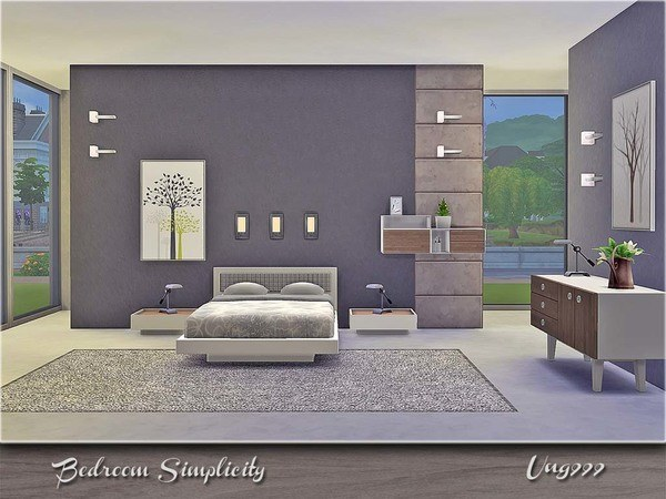 Simplicity bedroom by ung999 at tsr sims 4 updates for Bedroom designs sims 4