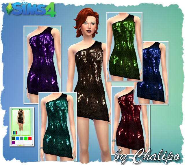 Tee for males and 2 dresses by Chalipo at All 4 Sims image 4501 Sims 4 Updates