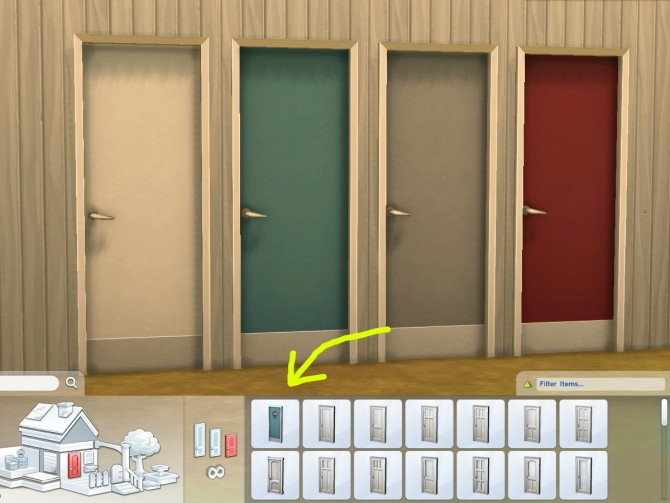Sims 4 Featureless Fiberglass Doors by plasticbox at Mod The Sims