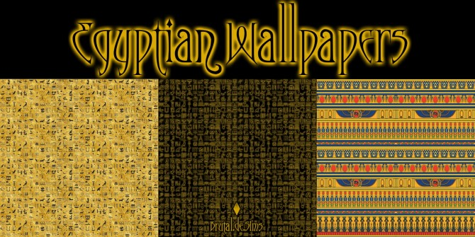 Sims 4 Egyptian Wallpapers at Brutal de Sims4