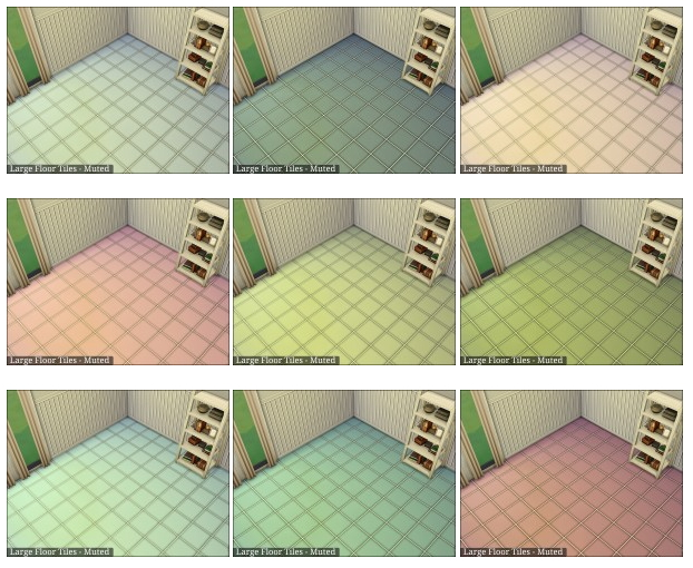 Large Floor Tiles Muted at DragonK Sims image 46141 Sims 4 Updates