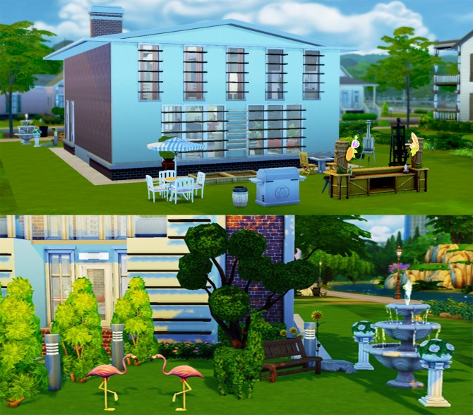 Brick house at Lulufrosty frog image 470 Sims 4 Updates