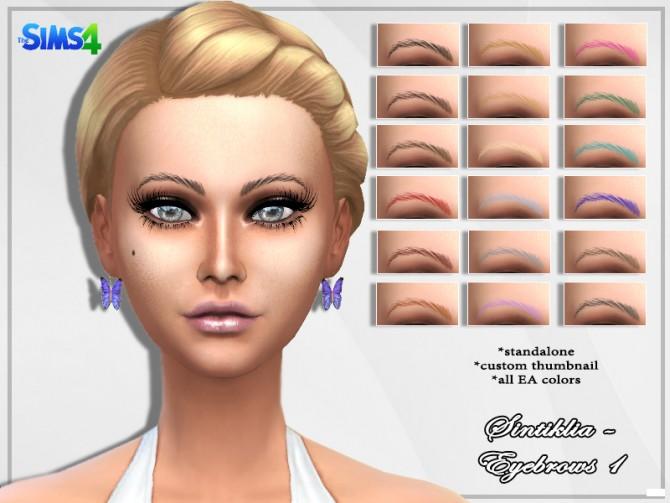 Sims 4 Eyebrows 1 at Sintiklia Sims