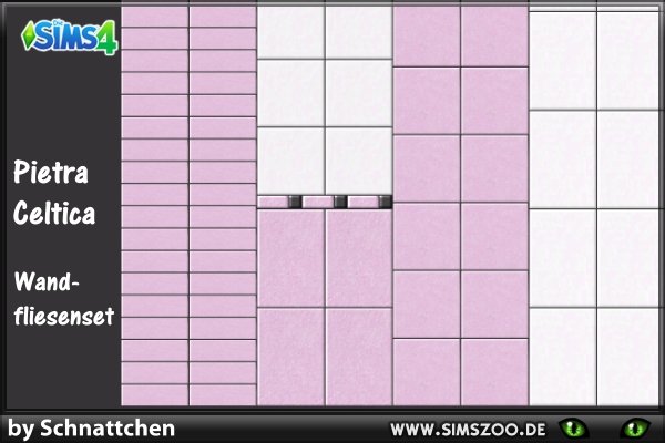 Sims 4 Pietra Celtica Wall Tiles by Schnattchen at Blacky's Sims Zoo